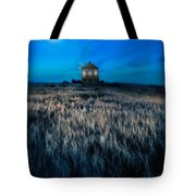 House On The Prairie Under A Full Moon Tote Bag