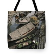 Houseboats Line A Waterway Tote Bag