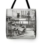 Houses And Steelmill Tote Bag