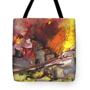 Houses In Fire Tote Bag