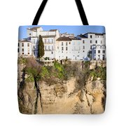 Houses On A Cliff In Ronda Town Tote Bag