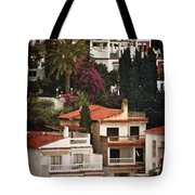 Houses On The Hill Nerja Tote Bag by Mary Machare