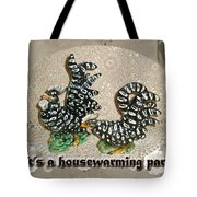 Housewarming Invitation - Black And White Chickens Figurines Tote Bag