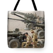 Howitzer 105mm Light Guns Are Lined Tote Bag