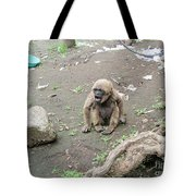 Howling Baby Monkey Tote Bag