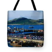 Howth Harbour & Irelands Eye, Co Tote Bag
