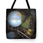 Hubcaps And Oil Cans Tote Bag by Steve McKinzie