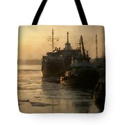 Huddled Boats Tote Bag