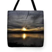 Hudson River Sunset Tote Bag