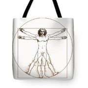 Human Body By Da Vinci Tote Bag
