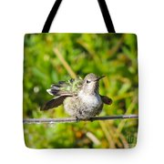 Hummer Takes A Shower Tote Bag