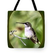 Hummingbird - Gold And Green Tote Bag