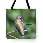 Hummingbird - Thinking Of You Tote Bag