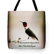 Hummingbird - Cards Tote Bag