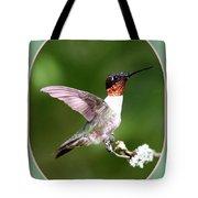 Hummingbird Photo - Light Green Tote Bag