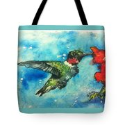 Hummingbird Sips Tote Bag
