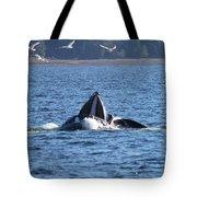 Hump Back Whale In Alaska Tote Bag