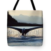 Humpback Whale Megaptera Novaeangliae Tote Bag