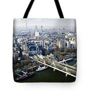 Hungerford Bridge Seen From London Eye Tote Bag