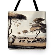 Hunting At Meritsane, Tote Bag