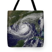 Hurricane Isaac In The Gulf Of Mexico Tote Bag