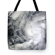 Hurricane Kenneth Off The Coast Tote Bag