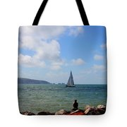 Hurst Point Watching  Tote Bag