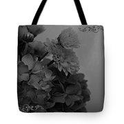 Hydrangea Boquet Black And White Tote Bag