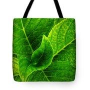 Hydrangea Leaves Tote Bag
