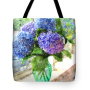 Hydrangeas In The Sun Tote Bag