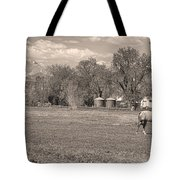 Hygiene Colorado Boulder County Scenic View Sepia Tote Bag