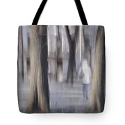 Girl Walking In The Park Tote Bag