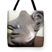 I Am All Ears Head Face With Ears Only Large Nose No Eyes Huge Ears Tote Bag by Rachel Hershkovitz