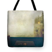 I Just Sat There Staring Out At The Fog Tote Bag by Laurie Search