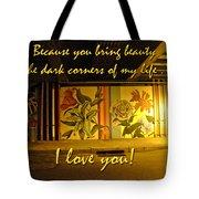 I Love You Night Graffiti Greeting Card Tote Bag