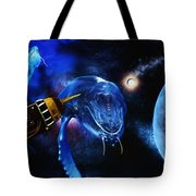 I Think Something Is Out There Tote Bag