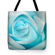 Ice Blue Rose Tote Bag
