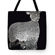 Ice Cold Lamb Carved In Ice Tote Bag