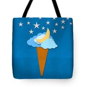 Ice Cream Design On Hand Made Paper Tote Bag by Setsiri Silapasuwanchai