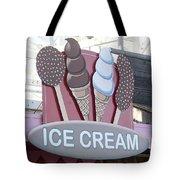 Ice Cream Sign Tote Bag