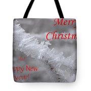Ice Crystal Christmas Tote Bag
