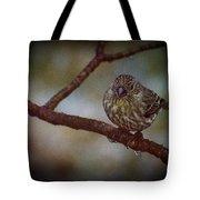 Ice Droplet Bird Tote Bag