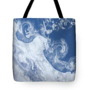 Ice Floes Along The Coastline Tote Bag