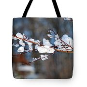 Ice On A Branch Tote Bag