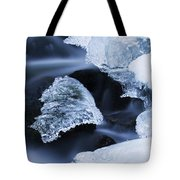 Ice Patches In Stream, Bavarian Forest Tote Bag