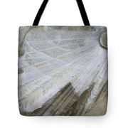 Ice Patterns On Pond, Alberta Canada Tote Bag