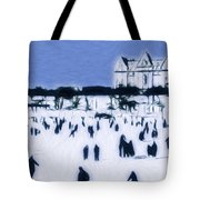 Ice Skating In Central Park Tote Bag