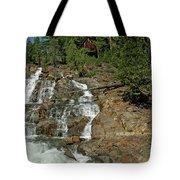Icy Water Falls Glen Alpine Falls Tote Bag