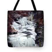 Icy Waterfalls Tote Bag
