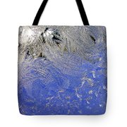 Icy Window Pane Tote Bag